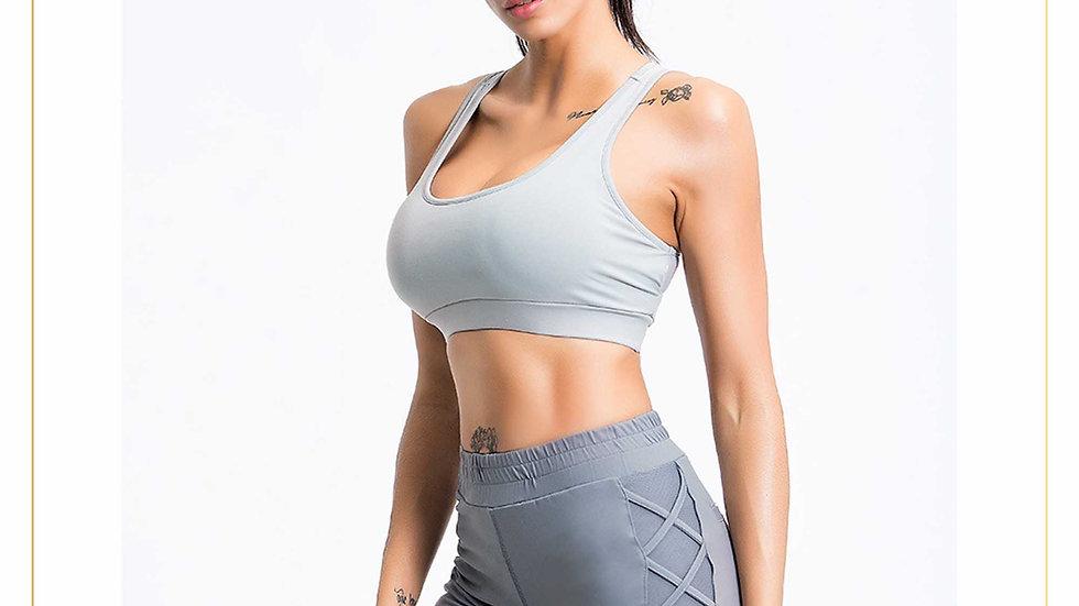 Setelan Baju Olahraga Fitness wanita Bra & Short Pants Unik (Set A12)