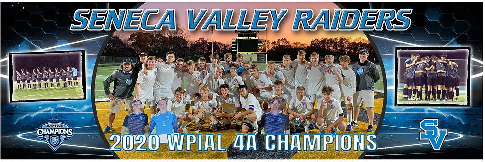 2020 SV Boys WPIAL Championship Team Poster with side pictures