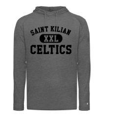 SaintKilian-Badger Hooded Long Sleeve-Black XXL Logo