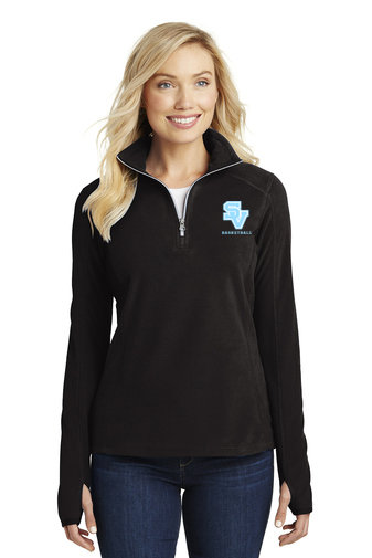 Ladies Micro Fleece ½ Zip Pullover