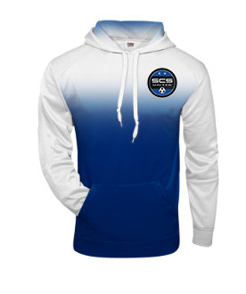 SCS-Ombre Performance Hoodie-Left Chest Logo