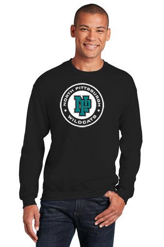 NP Wildcats-Crewneck Sweatshirt-Wildcat Round Logo
