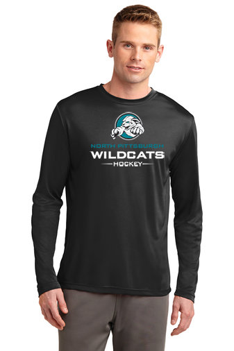 NP Wildcats-Long Sleeve Dri Fit-Wildcat Logo 2