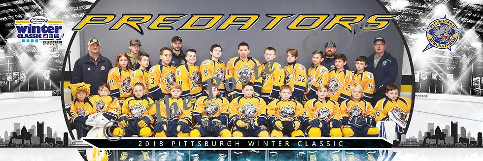 Pittsburgh Predators Peewee A with Mascot