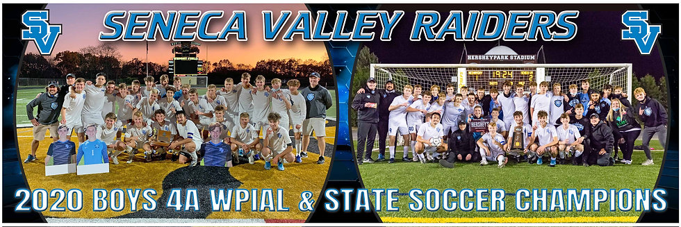 2020 SV Boys WPIAL & PIAA STATE Championship Team Poster