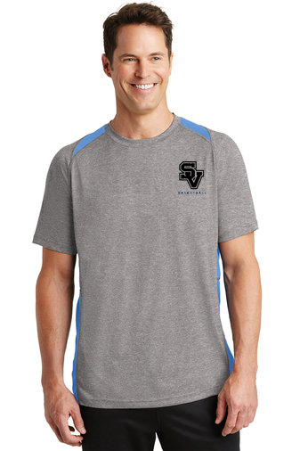 Sport Tek Colorblock wicking short-sleeved shirt