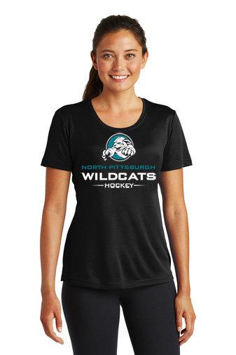 NP Wildcats-Women's Short Sleeve Dri Fit-Wildcat Logo 2
