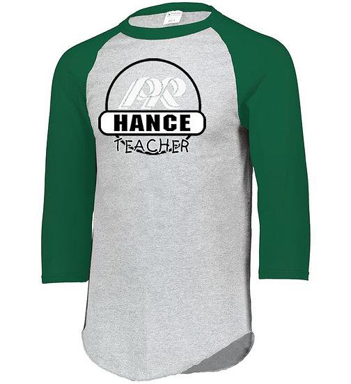 Hance-Baseball Style Shirt-Round Logo
