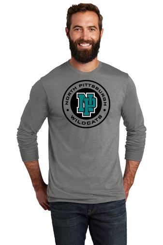 NP Wildcats-Allmade Recycled Long Sleeve Shirt-Wildcat Round Logo