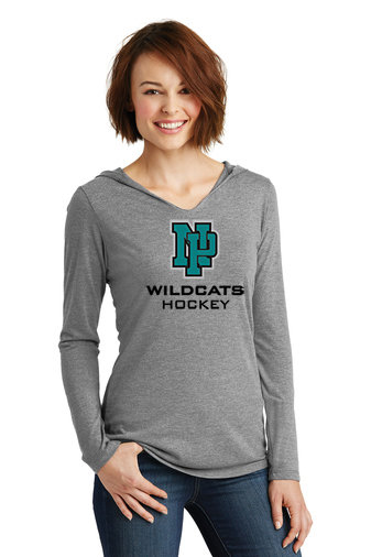 NP Wildcats-Women's Hooded Long Sleeve Shirt-NP Logo