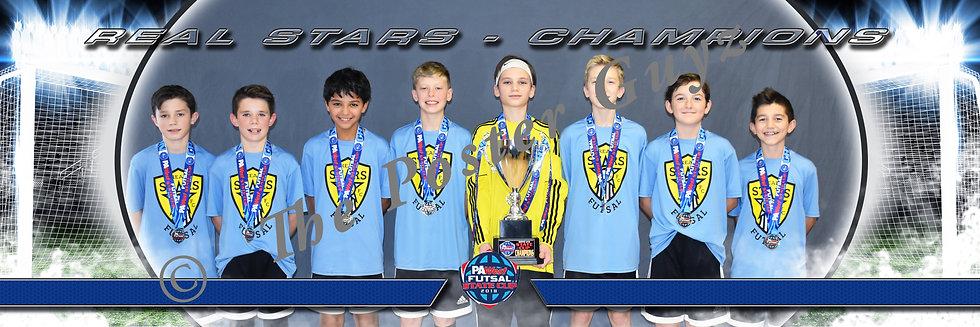 Real Stars u13B Championship with Trophy