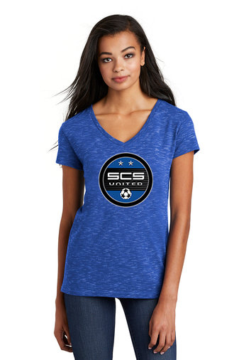 SCS-Women's District Medal V-Neck Shirt-Round Logo