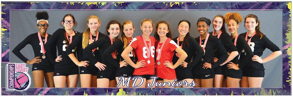 MD Juniors 14 Elite Black Silver Medals