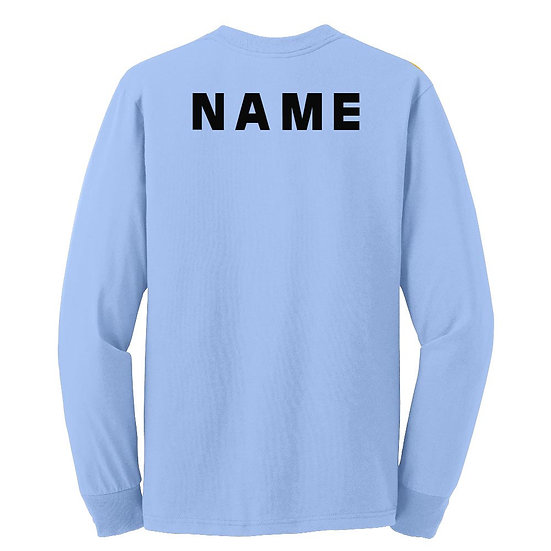 Add name on back of shirt