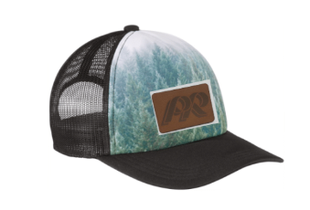 PRHS-Scenic Snapback Trucker Hat-Leather PR Design