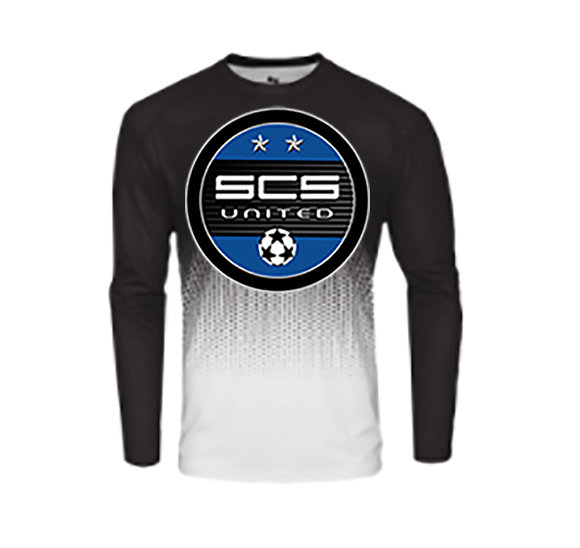 SCS-Badger Performance Hex Long Sleeve-Round Logo