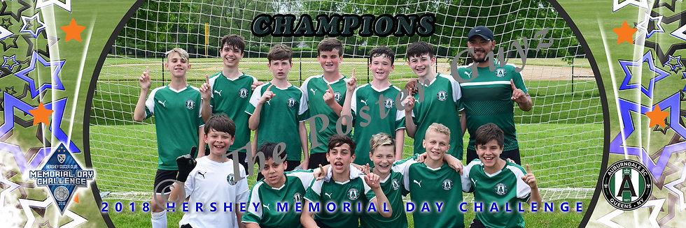 Auburndale 04 Green U14 B Champions with goalie