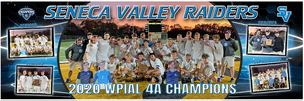 2020 SV Boys WPIAL Championship Team Poster with group pictures