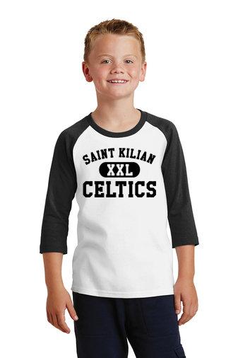 SaintKilian-Youth Baseball Style Shirt-Black XXL Logo