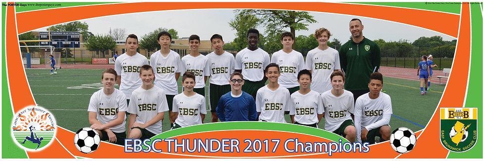 EAST BRUNSWICK SC THUNDER U15B - Champions