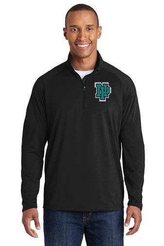 NP Wildcats-Men's Printed Sport Wick Quarter Zip Jacket