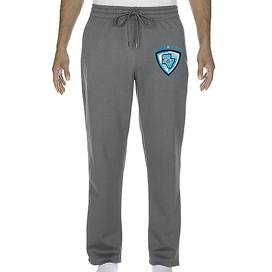 Grey Gildan Performance Sweat Pants
