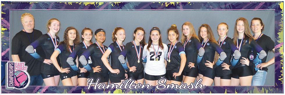 Hamilton Smash 14u with medals