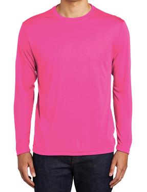 SVFootball-Pink Dri Fit Long Sleeve Shirt