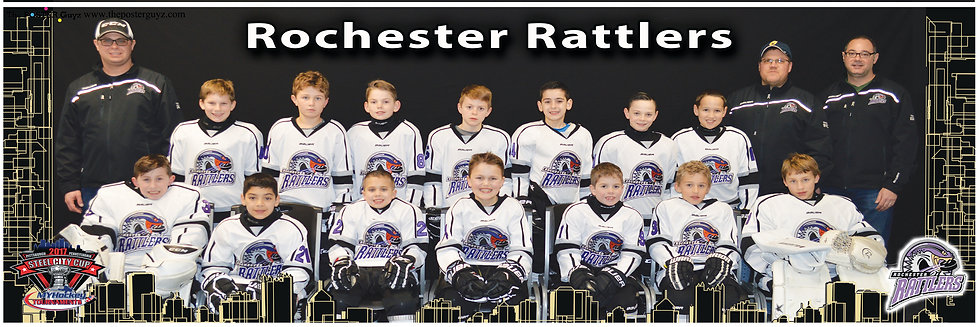 Rochester Rattlers Squirt B with coaches