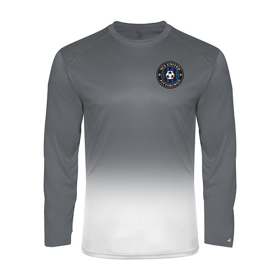 SCS-Performance Ombre Long Sleeve-Left Chest Logo