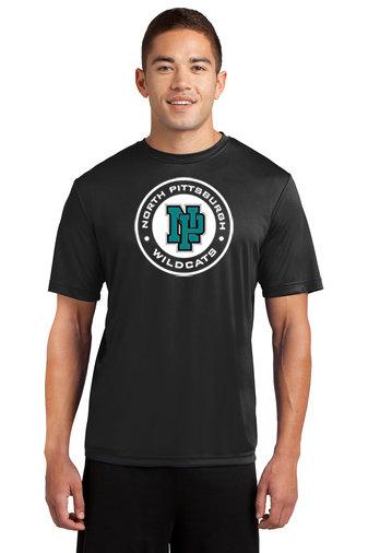 NP Wildcats-Short Sleeve Dri Fit-Wildcat Round Logo