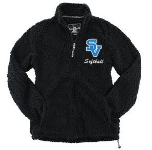SVSoftball-Women's Full Zip Sherpa Jacket