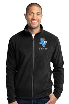 SVSoftball-Men's Full Zip Fleece Jacket