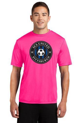 SCS-Pink Short Sleeve Dri Fit-Round Logo