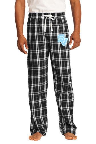"Black Flannel Pants with ""SV"" design"