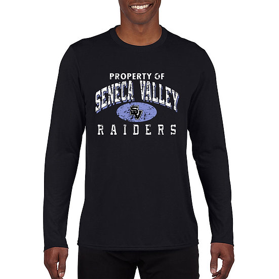 """Black Long Sleeved t-shirt with """"Property of  SV Raiders"""" design"""