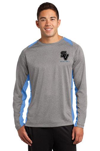 Sport Tek Colorblock wicking long-sleeved shirt