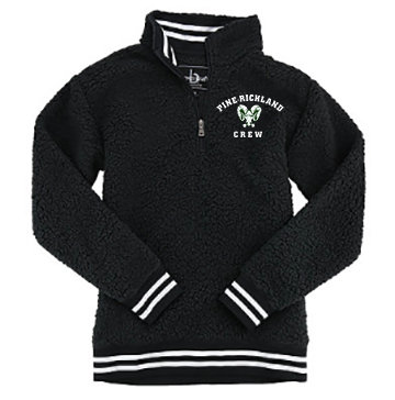 PR Crew-Quarter Zip Varsity Sherpa Jacket