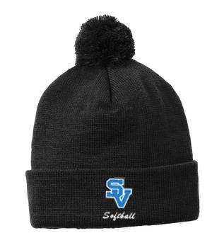 SVSoftball-Fleece Pom Beanie