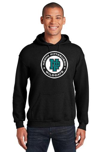 NP Wildcats-Hoodie-Wildcat Round Logo