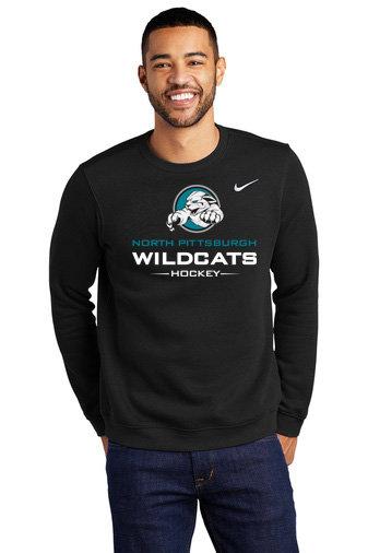 NP Wildcats-Nike Crewneck Sweatshirt-Wildcat Logo 2