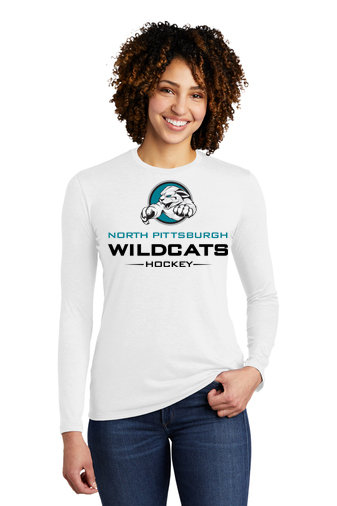 NP Wildcats-Women's Allmade Recycled Long Sleeve Shirt-Wildcat Logo 2