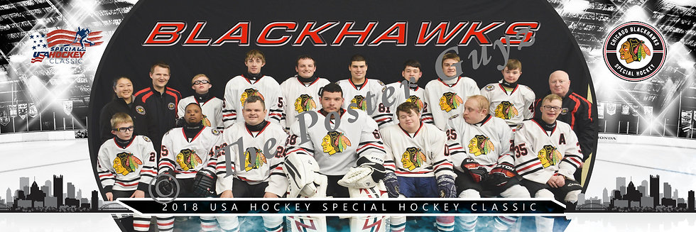Blackhawks Warriors White