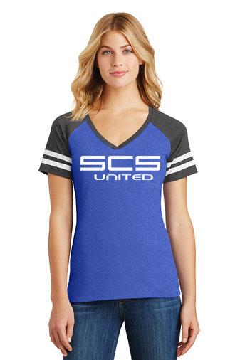 SCS-Women's District Gameday V-Neck Shirt