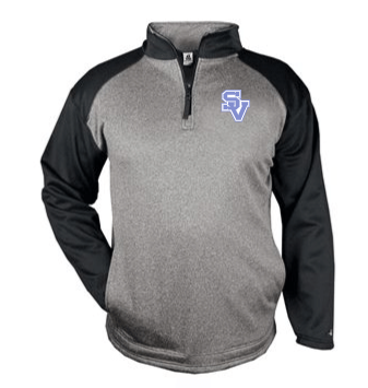 SVBBall-Badger Sport Heather Quarter Zip