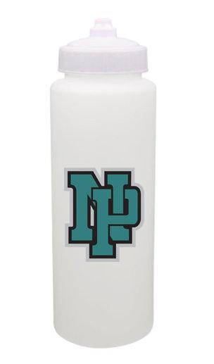 NP Wildcats-Plastic Water Bottle