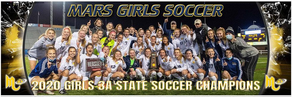 2020 Mars Girls Soccer Championship Team Poster
