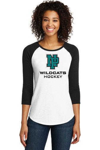 NP Wildcats-Women's Baseball Style Shirt-NP Logo