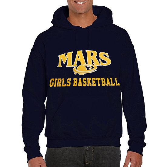 Navy Gildan 50/50 Hooded Sweatshirt