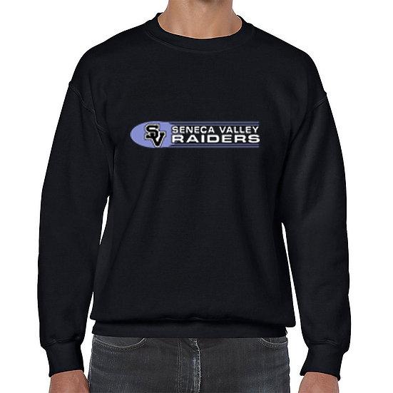 Black Crew-neck sweatshirt with SV Raiders design